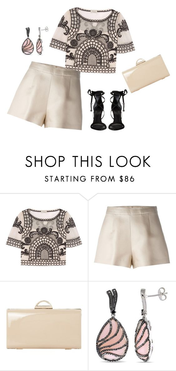 """""""outfit 4011"""" by natalyag ❤ liked on Polyvore featuring Temperley London, Ermanno Scervino, Dune, Ice and Schutz"""