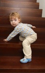 Baby Development: Climbing up the stairs http://www.baby.tips/baby-development-1-2-year-old-babies/