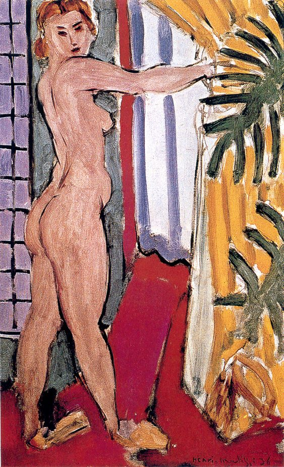 A NUDE STANDING BEFORE AN OPEN DOOR  Private Collection , New York  61 x 38 cm.  1936: