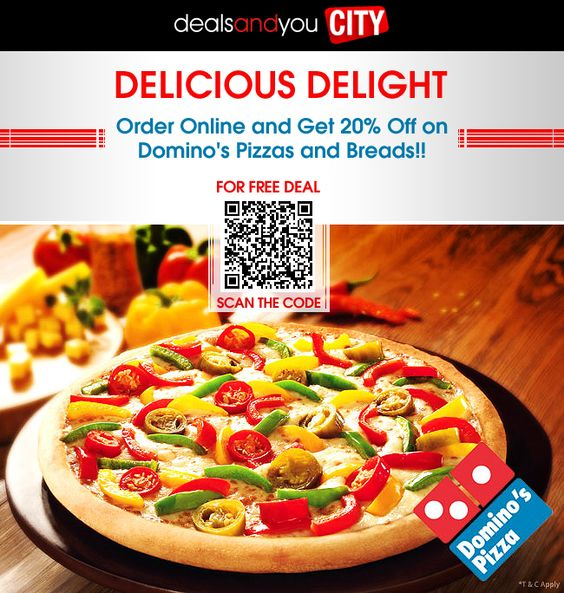 HUNGRY KYA? GRAB the Domino\'s Pizza DEAL- Order Online and Get 20 ...