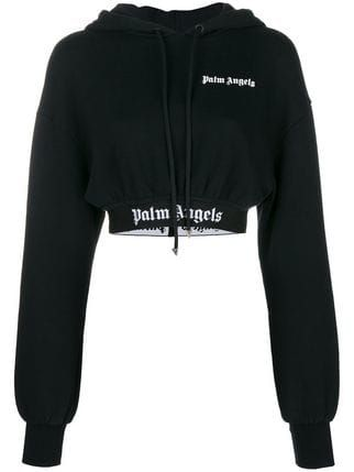 Palm Angels Cropped Logo Hoodie Farfetch | Aesthetic