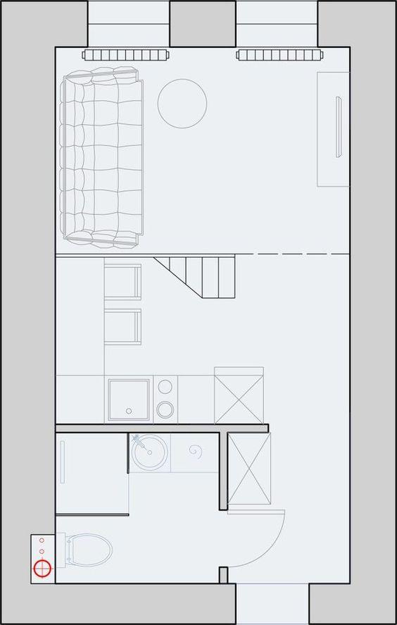 Plan Amenagement Studio 30M2 #11: Un Mini Loft Gris En Russie (PLANETE DECO A Homes World) | Mini Loft, Lofts  And Cabin