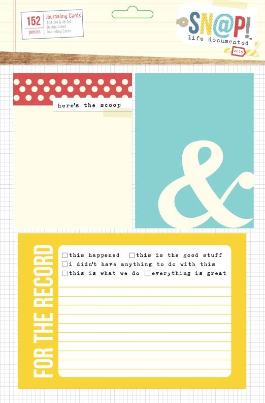 Life Documented Journaling Card Set