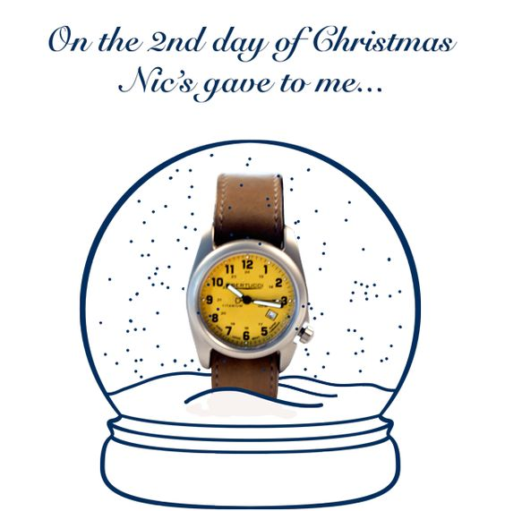 A Bertucci watch to keep track of time at the holiday parties.