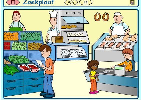 Supermarkt praatplaat