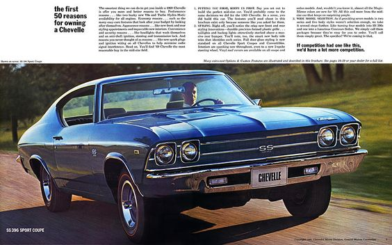 1969 Chevelle SS 396 ad poster