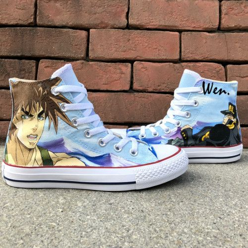 Hand Painted Shoes Converse JoJo's Bizarre Adventure Canvas