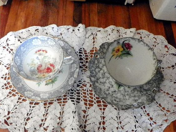 These are 2 of my oldest vintage teacups. I love the details on them! (By Nina Eary)