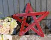 Red Rustic Star, Pallet Wood Star, Reclaimed Wood Star, Wooden Star, Patriotic Star, Industrial Farmhouse Decor, Country, Barn Wedding Decor