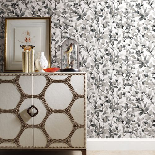 Botany Vines Peel And Stick Wallpaper By York Lelands Wallpaper Peel And Stick Wallpaper Room Visualizer Wallpaper