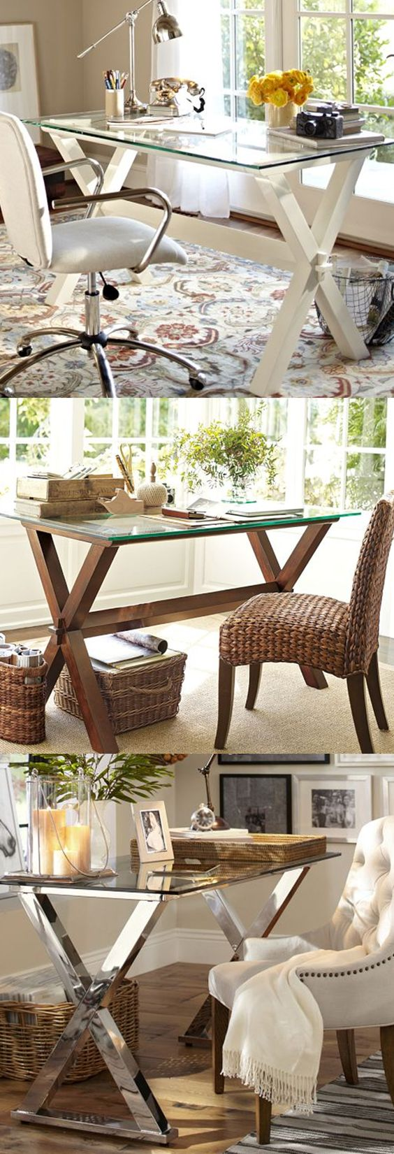 Pottery Barn desk - comes in 3 finishes - on sale for $299! http://rstyle.me/n/ebfhan2bn