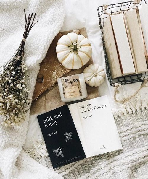 soulmate24.com Photo #rupi_kaur #milk_and_honey #the_sun_and_her_flowers #flowers #bed