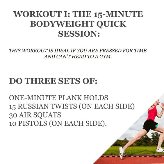 The Seven Best Strength Training Exercises For Runners - Workout 1: 15 minute body weight