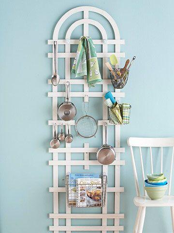 Garden Variety: Kitchen Organization, Kitchen Storage, Garden Trellis, Diy Craft, Small Kitchen, Storage Ideas