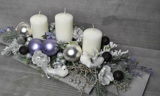 Stroik Swiateczny Boze Narodzenie Ze Swieczkami Christmas Centerpieces Christmas Table Decorations Xmas Decorations