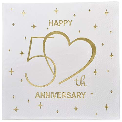 Gift Boutique 100 Count 3 Ply Happy 50th Anniversary Napk Https Www Amazon Com Happy 50th Anniversary 50th Anniversary Decorations 50th Anniversary Cards