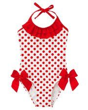 Dot Bow Swimsuit ~ Janie and Jack