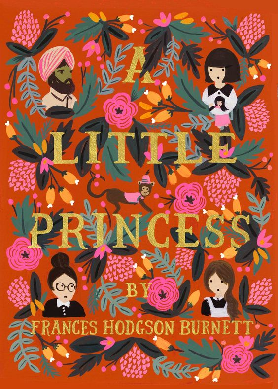 'A Little Princess' by Frances Hodgson Burnett from Puffin in Bloom. A new line of children's classics, with gorgeously illustrated covers by Anna Bond, the lead artist of renowned stationery brand Rifle Paper Co.