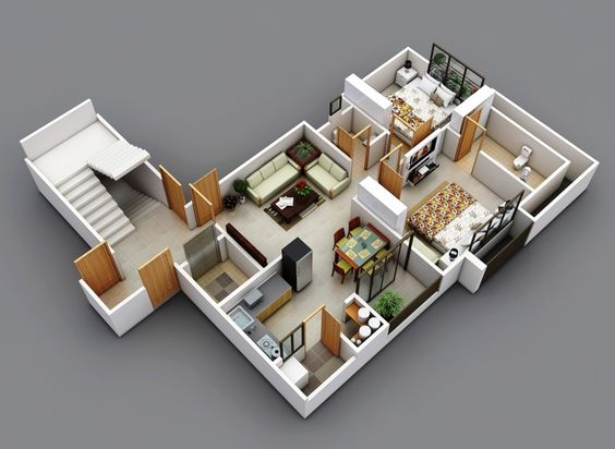 Bedroom floor plans floor plans and apartments on pinterest - Terras appartement lay outs ...