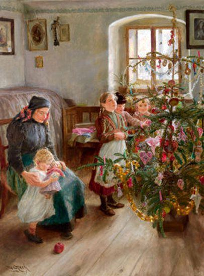 Christmas , Emil Czech (1862 – 1929, Czech) I AM A CHILD-children in art history-blog