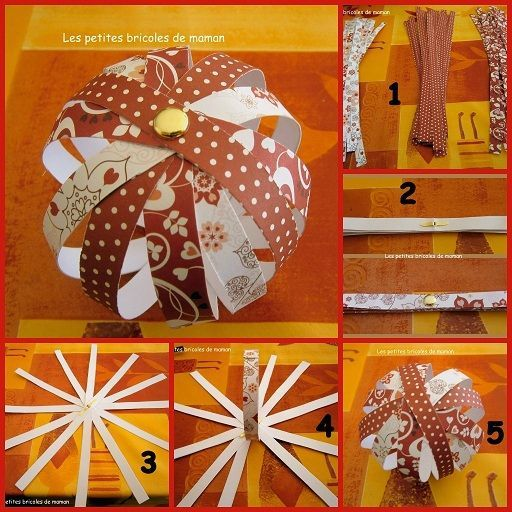 Noël 2012 # 1 #: Boules de noël en papier   Mesbidouilles81