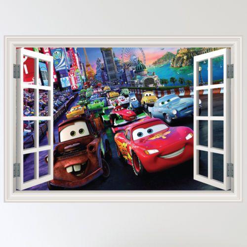 Wall sticker art murals and disney pixar cars on pinterest for Disney pixar cars wall mural
