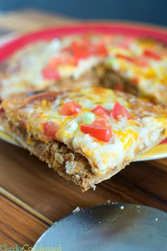 This copy cat Taco Bell Mexican Pizza is even better than the original. They are super easy to throw together and taste totally delicious. Perfect for people who are trying to avoid fast food but still get a craving for a Mexican Pizza from Taco Bell!