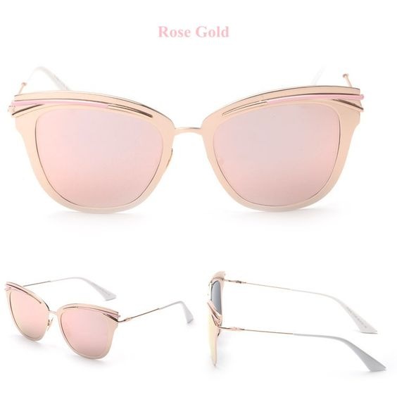 46735990e6 Rose Gold Retro Alloy Cat Eye Sunglasses. Guardar Consulta más información  en bohojoy.com. de Hippie BLiss