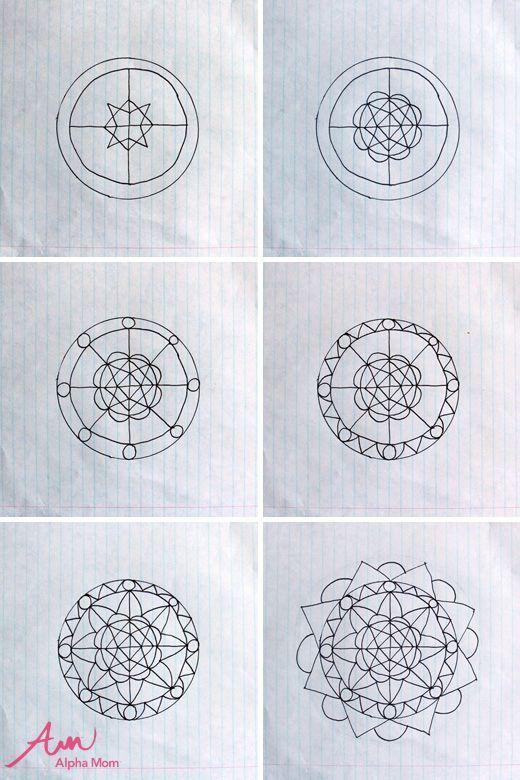 Doodled Mandalas Doodled Mandalas Mandala Malen Lernen Malen Und Zeichnen Mandalas Zeichnen