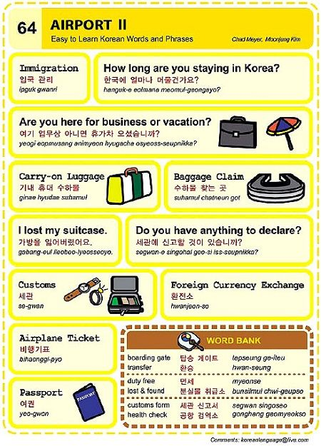 Korean words - lost passport form