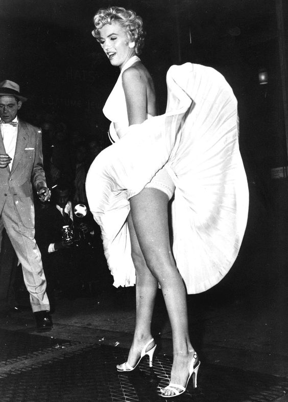 """Our undated picture shows Marilyn Monroe in the famous scene from the movie """"the seven year itch""""."""