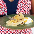 Banana Pancakes with Pineapple and Creme Fraiche - for my honey !