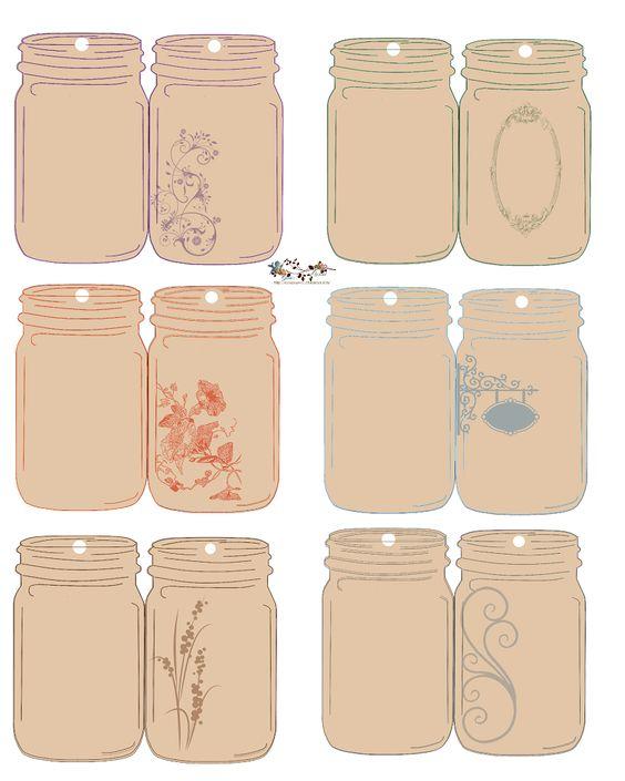 Free-download Folding Jar Tags