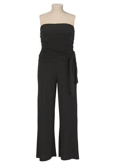 I want an occasion to wear this.  Tube Top Jumpsuit with Sash Belt