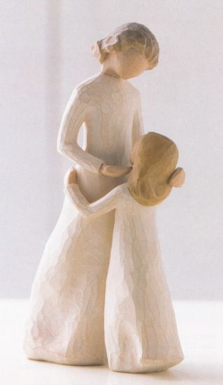 My favorite Willow Tree figurine: The  Mother Daughter.