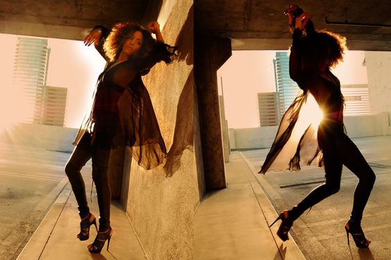 Ndoema wears AllSaints leather leggings, L.A.M.A.B platform sandals and vintage silver jewelry.