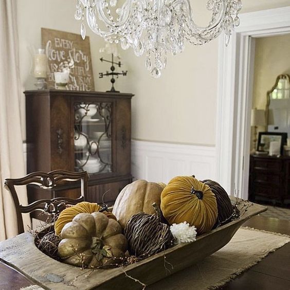 Just because Halloween is over doesn't mean we have to say so long to pumpkins. They can keep your dining table company all season long! (regram: @somewhereonmain) How are you decorating for the season? #MyPotteryBarn