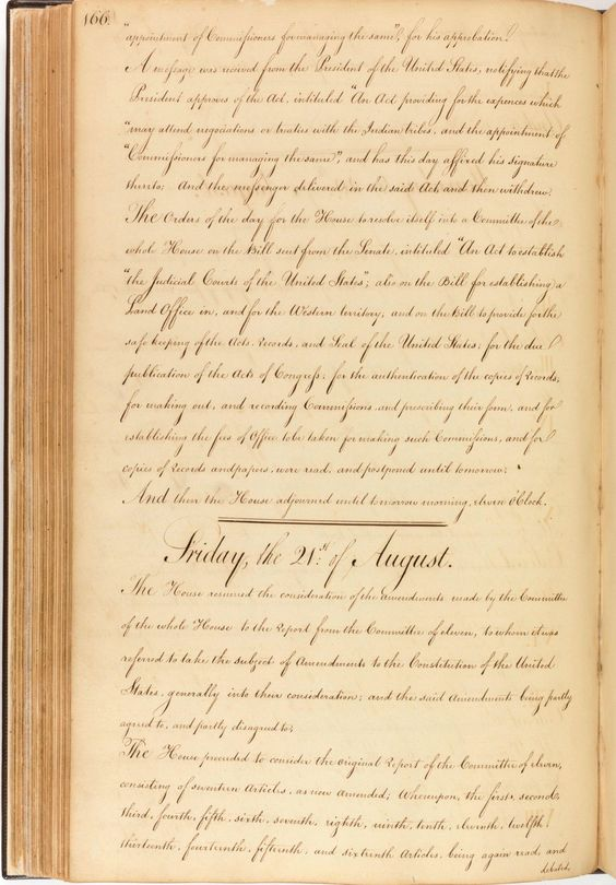 House Journal of the First Session of the First Congress | DocsTeach