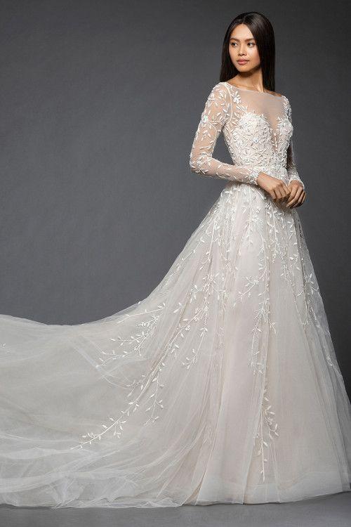 Wedding Dress Out Of Lazaro Isabel 3859 Lazaro Wedding Dress Wedding Dress Long Sleeve Long Wedding Dresses