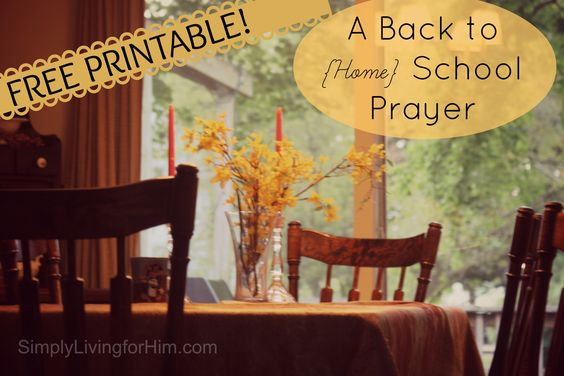 Encouragement for the homeschooling momma  A Homeschool Mother's Prayer- FREE Printable | Bible Based Homeschooling