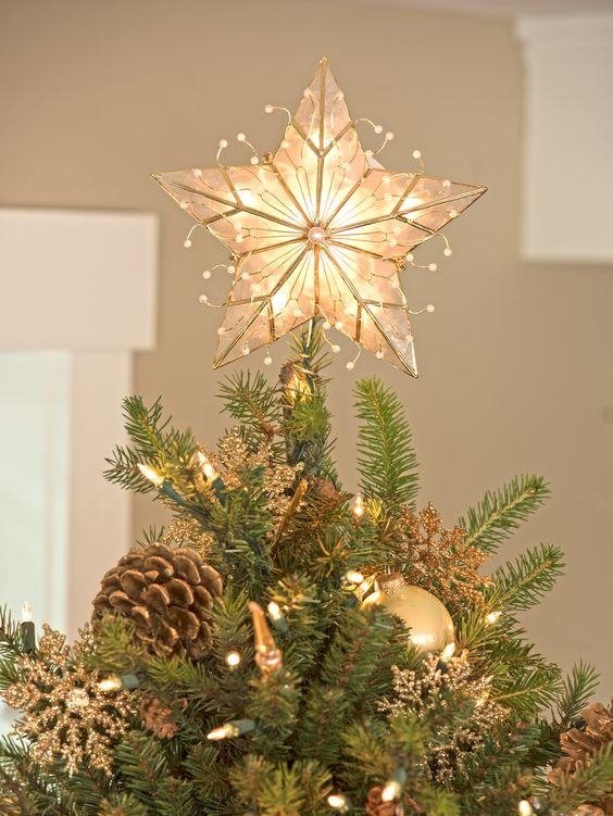 Capiz Star Christmas Tree Topper. looks just like mine.