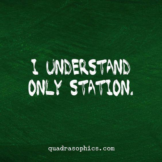 Denglish - Ich verstehe nur Bahnhof. Richtig: It's all Greek to me. ;-)