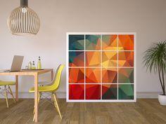 Neu im Sortiment: Möbelfolien für das Kallx Regal! Design: Polygon #Kallax #IKEA #keinExpedit #IKEA #Polygon #Designfolie #Regal #Esszimmer