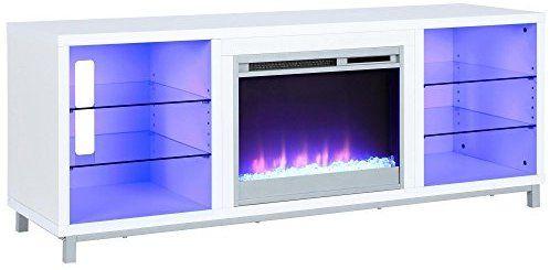 Amazon Com Lumina Fireplace Tv Stand For Tvs Up To 70 White