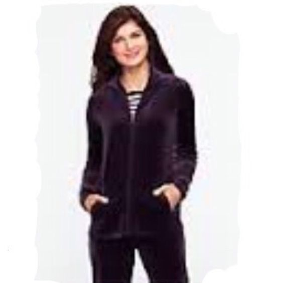 Talbots Deep Purple Velour Tracksuit MSRP $148 Free turtleneck with full asking price purchase! Otherwise, $10 Talbots Jackets & Coats