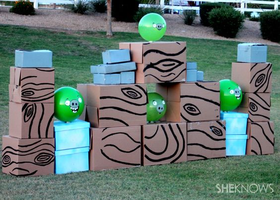 How to make a life-size Angry Birds game#the big kid inside of me wants to do this badly lol: