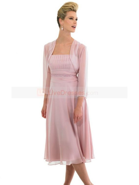 Summer Mother Bride Dresses  ... Length Tea-length Chiffon Mother ...