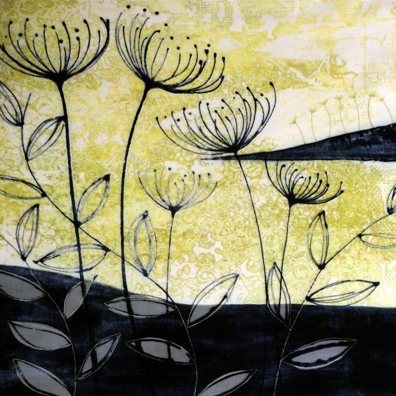 Image result for textile art leaves