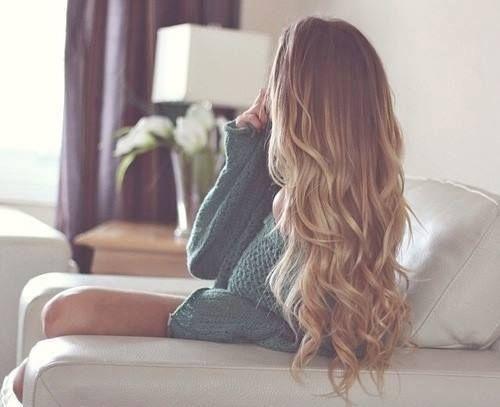 long dirty blonde hair...