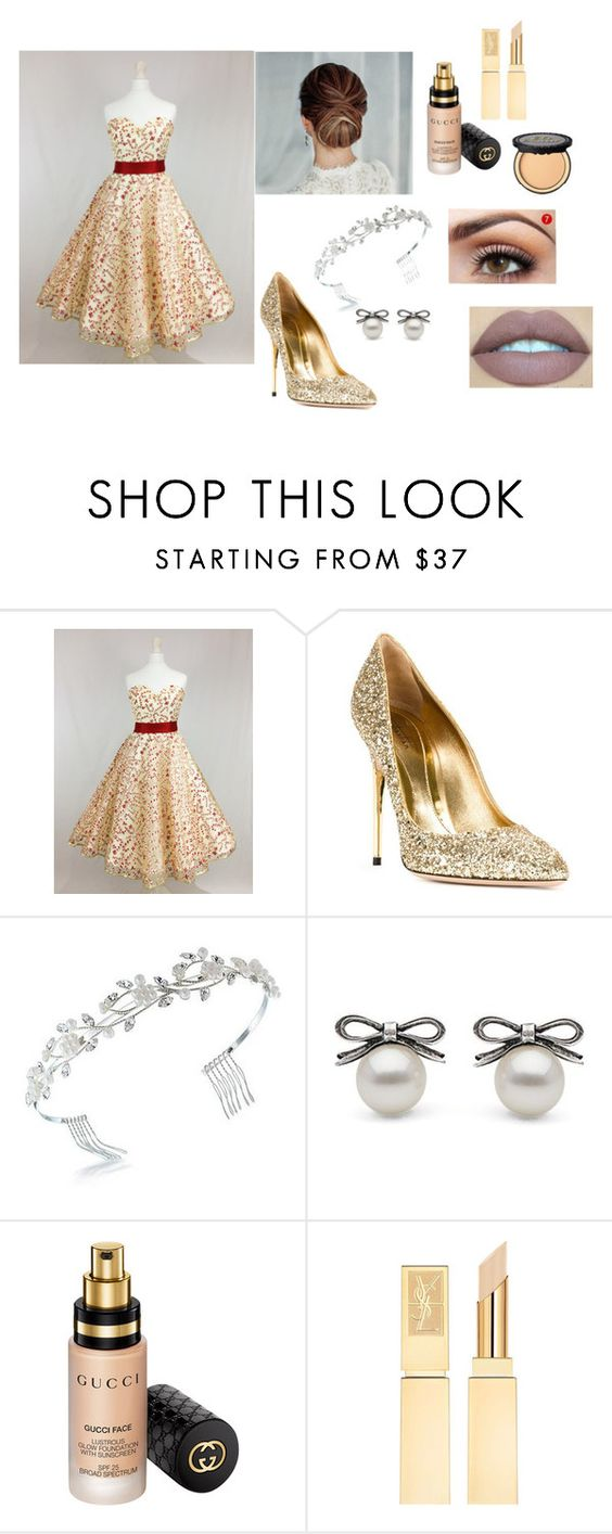 """15 anos recepção"" by belinhabela on Polyvore featuring Sebastian Milano, Bling Jewelry, Gucci and Too Faced Cosmetics"
